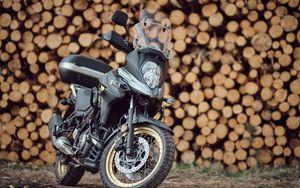Превью обои suzuki, мотоцикл, байк, черный