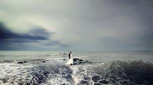 Превью обои свадьба, море, настроение