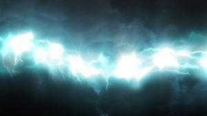 Превью обои свечение, молнии, голубой, тень