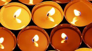 Превью обои свечи, огонь, гореть, свет