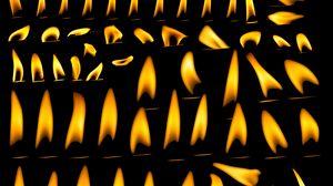 Превью обои свечи, огонь, гореть, пламя, темный