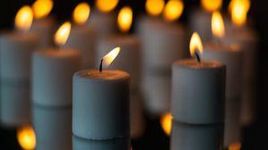 Превью обои свечи, огонь, отражение