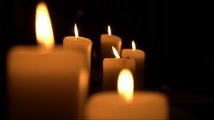 Превью обои свечи, огонь, свет, темнота