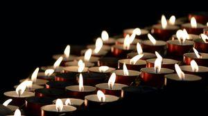 Превью обои свечи, огонь, темнота