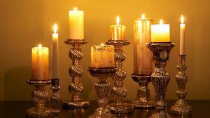 Превью обои свечи, свет, огонь, подсвечник
