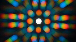 Превью обои свет, блики, спектр, размытость, абстракция