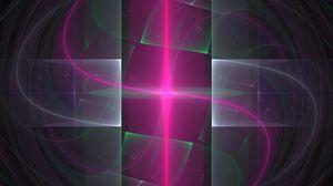 Превью обои свет, линии, абстракция, розовый