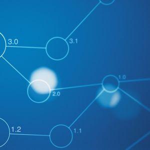 Превью обои связь, синий фон, схема