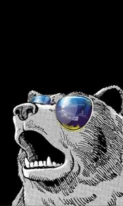 Превью обои swag time, swag, минимализм, медведь, арт