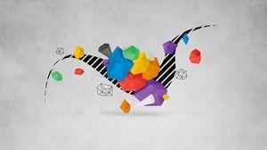 Превью обои сюрреализм, фигура, оригами