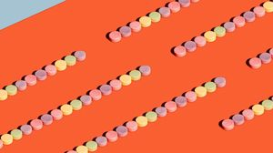 Превью обои конфеты, разноцветный, сладости, минимализм