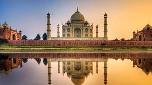 Превью обои тадж-махал, агра, индия, мавзолей, мечеть