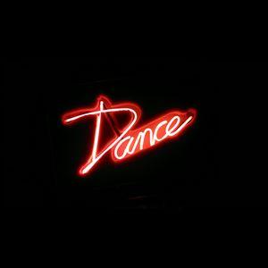 Превью обои танец, слово, неон, свет, красный