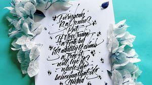 Превью обои текст, леттеринг, надпись, пожелание, листья