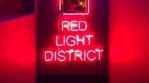Превью обои текст, неон, красный, свет, свечение
