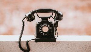 Превью обои телефон, винтаж, старый, черный