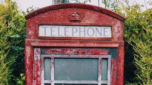 Превью обои телефонная будка, старинный, потертый