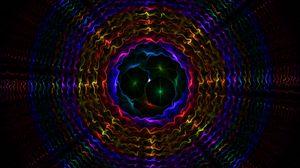 Превью обои темный, узоры, фон, круги