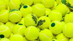 Превью обои теннис, мячи, спорт, салатовый, желтый