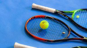 Превью обои теннис, ракетки, мяч, спорт