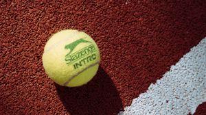Превью обои теннис, теннисный  мяч, мяч, корт, разметка