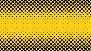 Превью обои точки, круги, полутон, желтый, черный
