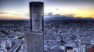 Превью обои токио, здание, небоскребы, hdr