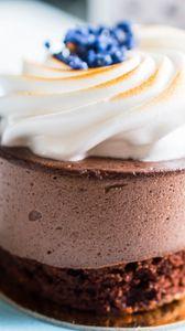 Превью обои торт, десерт, ягоды, крем