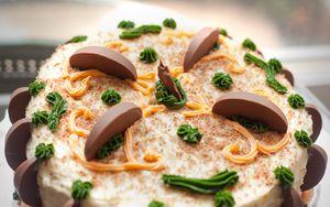 Превью обои торт, десерт, сладкое, сливки, шоколад