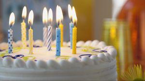 Превью обои торт, свечи, день рождения