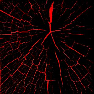 Превью обои трещины, красный, черный