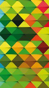 Превью обои треугольник, фон, разноцветный, текстура