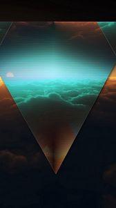 Превью обои треугольник, форма, темный, фигурка