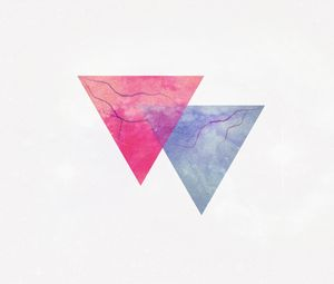 Превью обои треугольник, минимализм, молния, жилы