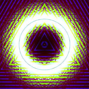 Превью обои треугольники, фигуры, свечение, абстракция