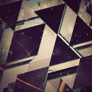 Превью обои треугольники, фон, свет