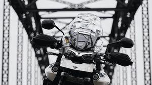 Превью обои triumph tiger 900, triumph, мотоцикл, байк, вид спереди
