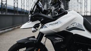 Превью обои triumph tiger 900, triumph, мотоцикл, байк, вид сбоку
