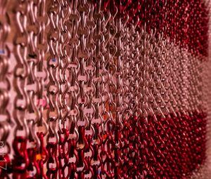 Превью обои цепь, звенья, металл, красный