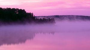 Превью обои туман, даль, природа