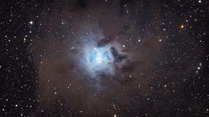 Превью обои туманность ирис, туманность, свечение, звезды, космос