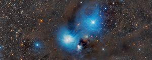 Превью обои туманность муравьед, туманность, звезды, блики, космос