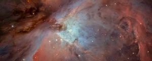 Превью обои туманность ориона, сияние, звезды, космос