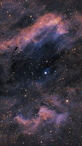 Превью обои туманность раскладушка, туманность, звезды, сияние, космос