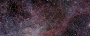 Превью обои туманность, звезды, блики, космос, темный