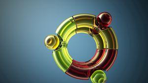 Превью обои ubuntu, система, разноцветный, пространство