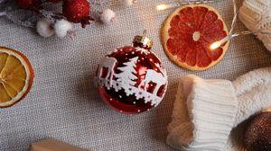 Превью обои украшения, гирлянды, новый год, рождество, настроение