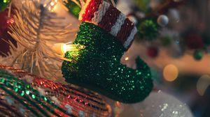 Превью обои украшения, гирлянды, праздник, новый год, рождество