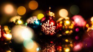 Превью обои украшения, шары, разноцветный, новый год, рождество