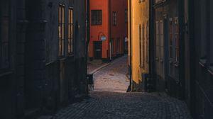 Превью обои улица, здания, город, стокгольм, швеция